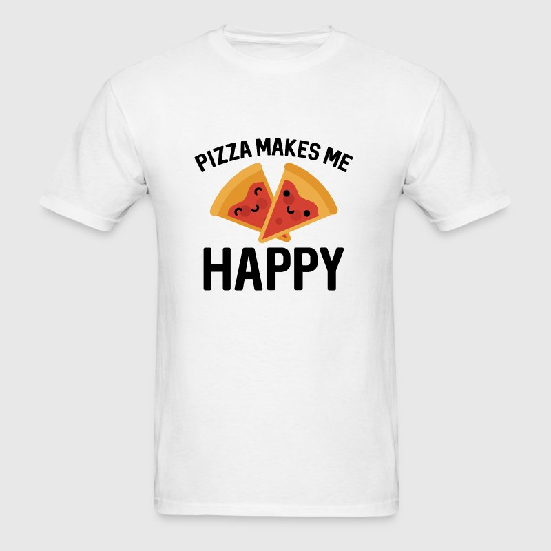 Pizza Makes Me Happy - Men's T-Shirt