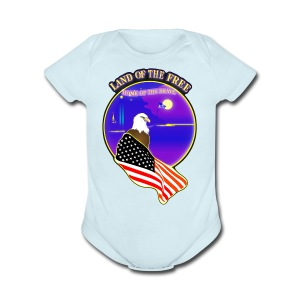 Land of the Free, Home of the Brave Kid's T-Shirt - Short Sleeve Baby Bodysuit