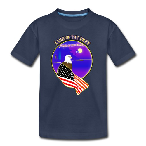 Land of the Free, Home of the Brave Kid's T-Shirt - Toddler Premium T-Shirt