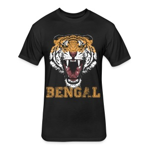 Bengal Tiger T-shirt - Fitted Cotton/Poly T-Shirt by Next Level
