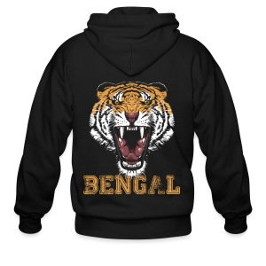 Bengal Tiger T-shirt - Men's Zip Hoodie