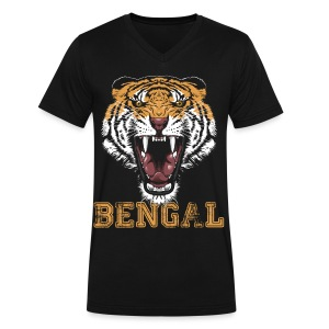 Bengal Tiger T-shirt - Men's V-Neck T-Shirt by Canvas