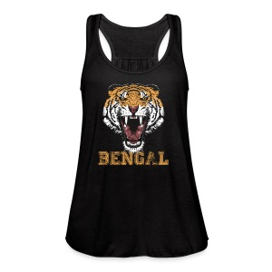 Bengal Tiger T-shirt - Women's Flowy Tank Top by Bella