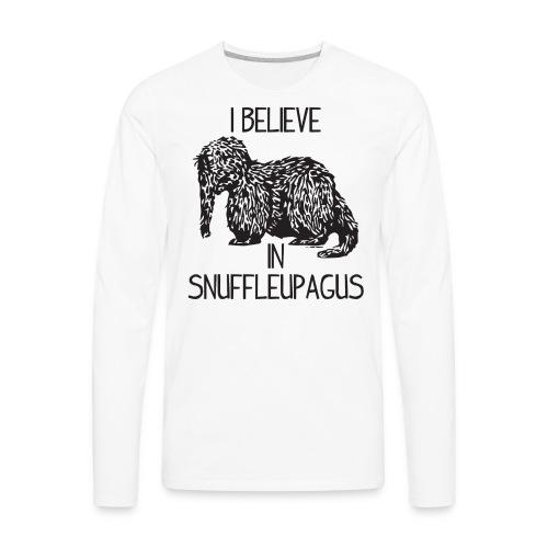 I Believe In Snuffleupagus - Men's Premium Long Sleeve T-Shirt