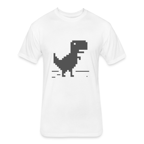 Chrome Dino - Fitted Cotton/Poly T-Shirt by Next Level