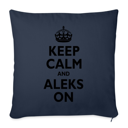 Keep Calm & ALEKS On - Throw Pillow Cover