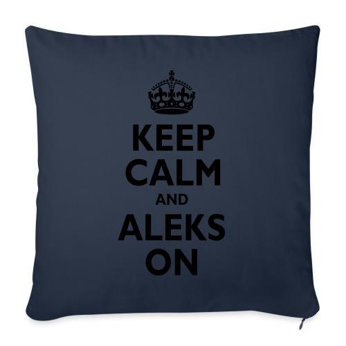 "Keep Calm & ALEKS On - Throw Pillow Cover 18"" x 18"""