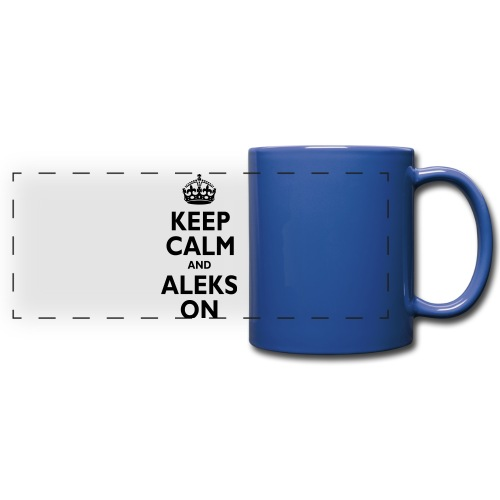 Keep Calm & ALEKS On - Full Color Panoramic Mug