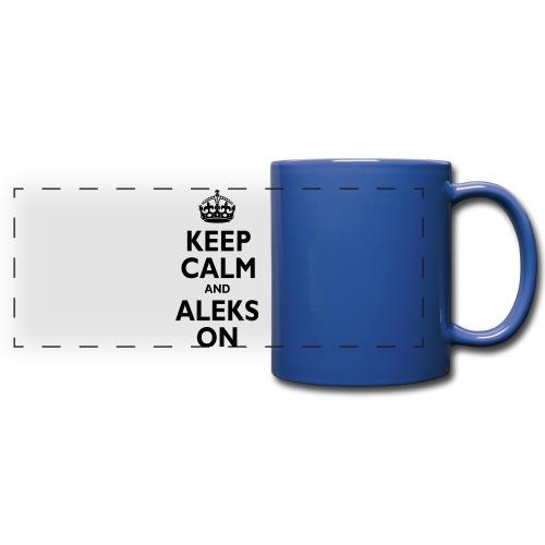 Keep Calm & ALEKS On - Full Color Panoramic Mug