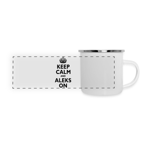 Keep Calm & ALEKS On - Panoramic Camper Mug