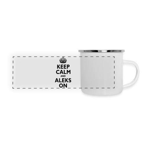 Keep Calm & ALEKS On - Panoramic Camper Mug