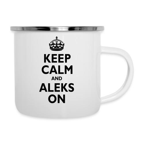 Keep Calm & ALEKS On - Camper Mug