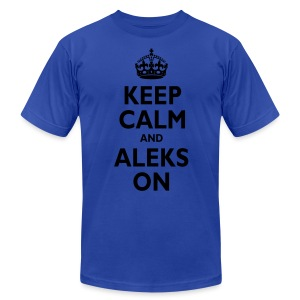 Keep Calm & ALEKS On - Men's Fine Jersey T-Shirt