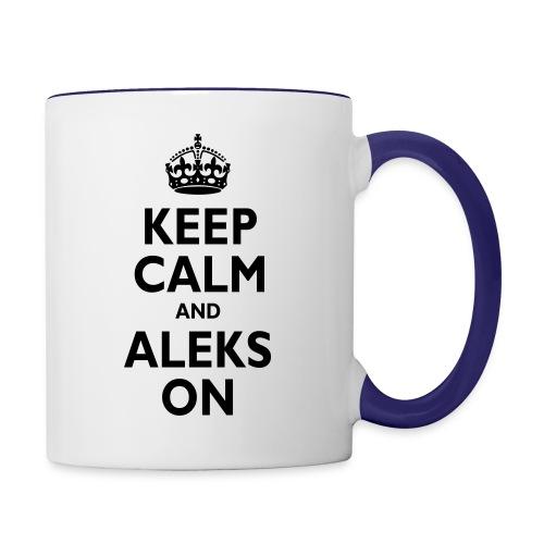 Keep Calm & ALEKS On - Contrast Coffee Mug