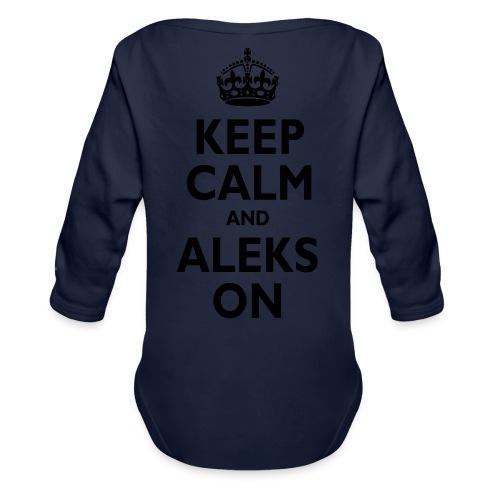 Keep Calm & ALEKS On - Organic Long Sleeve Baby Bodysuit