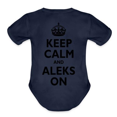 Keep Calm & ALEKS On - Organic Short Sleeve Baby Bodysuit