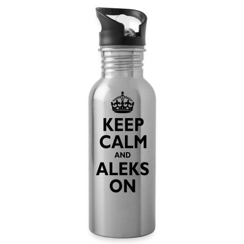 Keep Calm & ALEKS On - Water Bottle