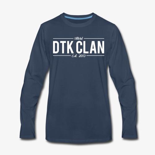 Men's Official DTK Clan T-Shirt NAVY - Men's Premium Long Sleeve T-Shirt