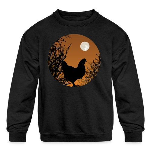 The Chicken Witch - Kids' Crewneck Sweatshirt