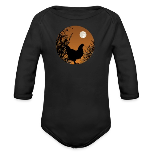 The Chicken Witch - Organic Long Sleeve Baby Bodysuit