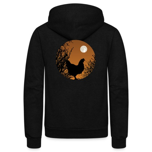 The Chicken Witch - Unisex Fleece Zip Hoodie