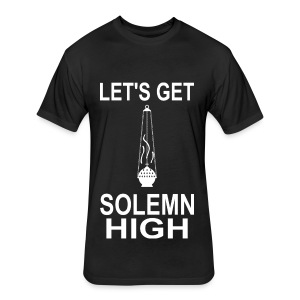 Solemn High (Men) - Fitted Cotton/Poly T-Shirt by Next Level