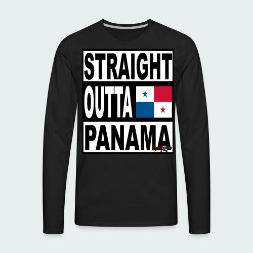 Straight Outta Panama (White) - Men's Premium Long Sleeve T-Shirt
