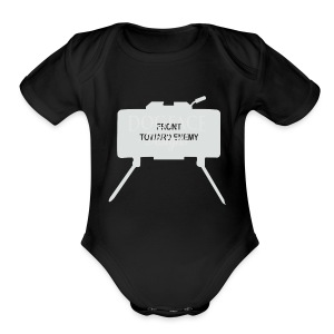 Claymore Mine (Minimalist/Light) - Short Sleeve Baby Bodysuit