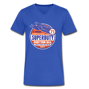 Superduty oil - Men's V-Neck T-Shirt by Canvas