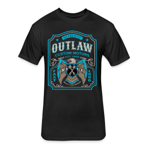 Outlaw Motors - Fitted Cotton/Poly T-Shirt by Next Level