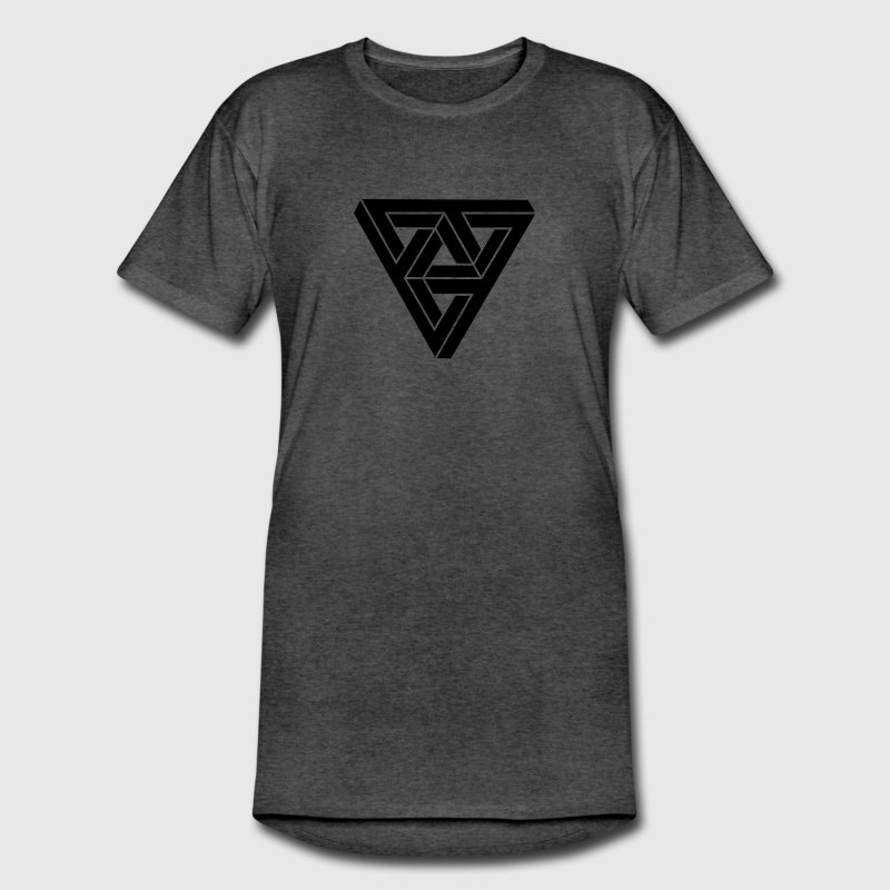 Optical illusion  Minimal Shape T-Shirts - Men's Long Body Urban Tee