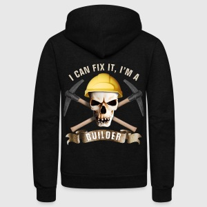 builder_pick_skull_c T-Shirts - Unisex Fleece Zip Hoodie by American Apparel