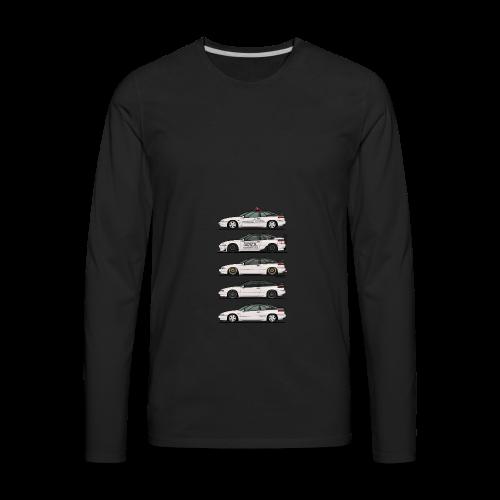 Stack of Pearl White Subaru Alcyone SVX - Men's Premium Long Sleeve T-Shirt