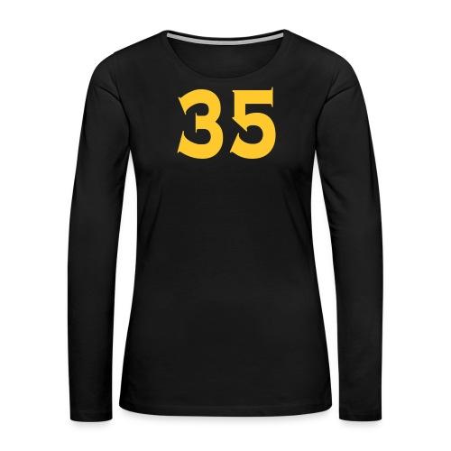 Ladies 35 Tshirt - Women's Premium Long Sleeve T-Shirt