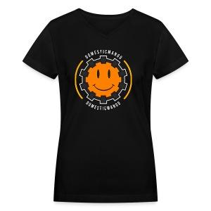 Main Logo Front #1 - Women's V-Neck T-Shirt