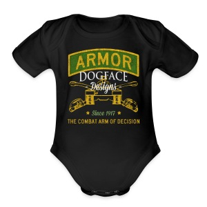 Armor: Combat Arm of Decision - Short Sleeve Baby Bodysuit