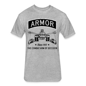 Armor: Combat Arm of Decision - Fitted Cotton/Poly T-Shirt by Next Level