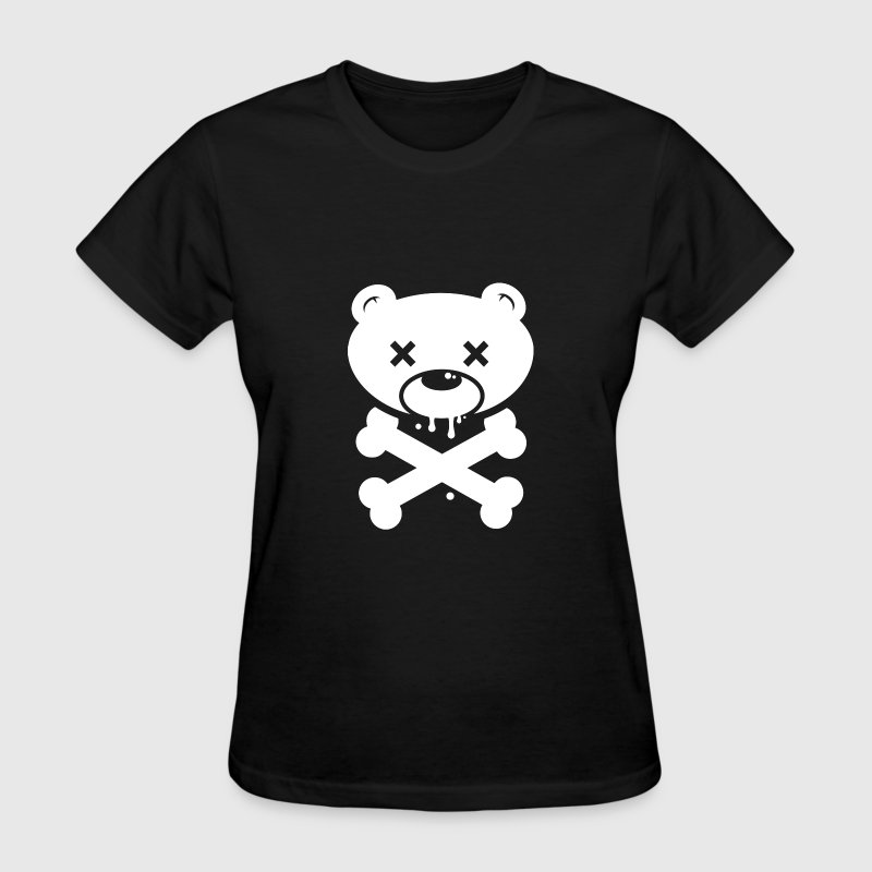 Bear Skull and Cross Bones - Women's T-Shirt