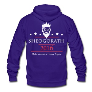Sheogorath 2016 - Unisex Fleece Zip Hoodie by American Apparel