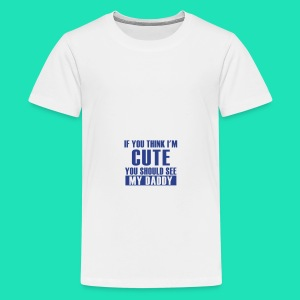 THINK IM CUTE BIB - Kids' Premium T-Shirt