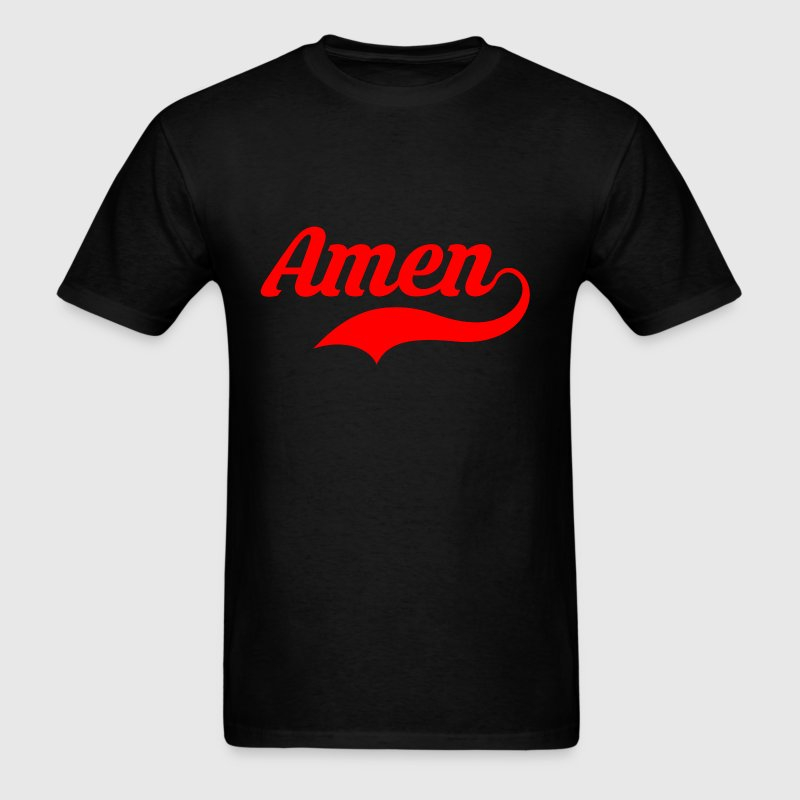 Amen Baseball red T-Shirts - Men's T-Shirt