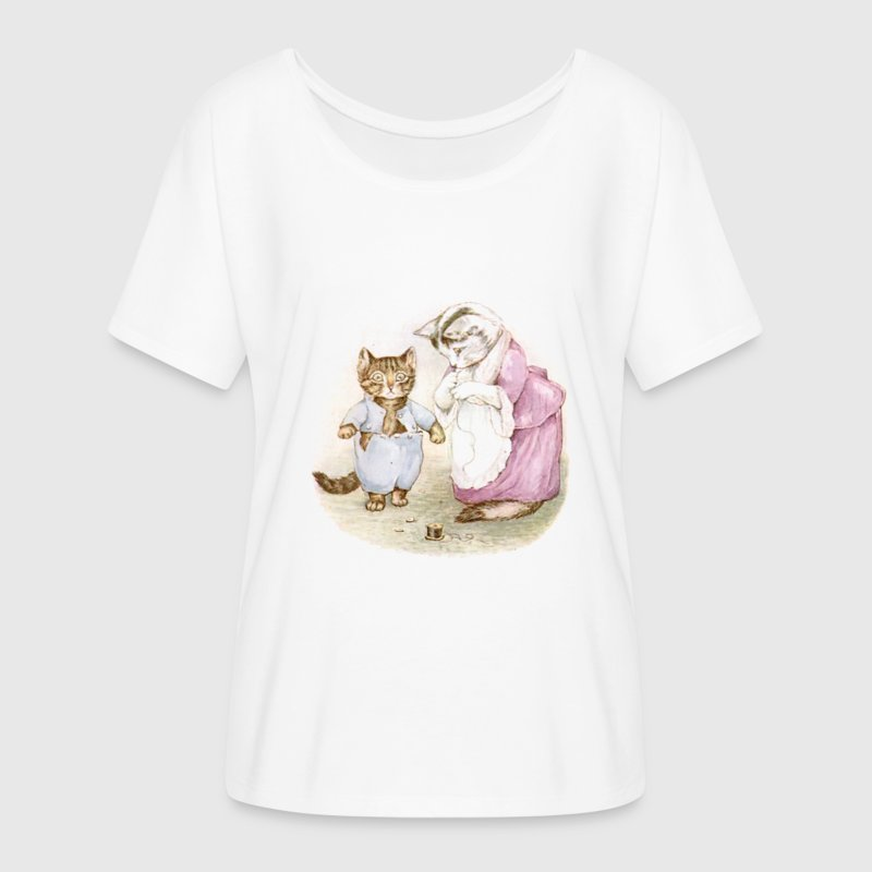 Pretty, Beatrix Potter Tom Kitten  - Women's Flowy T-Shirt