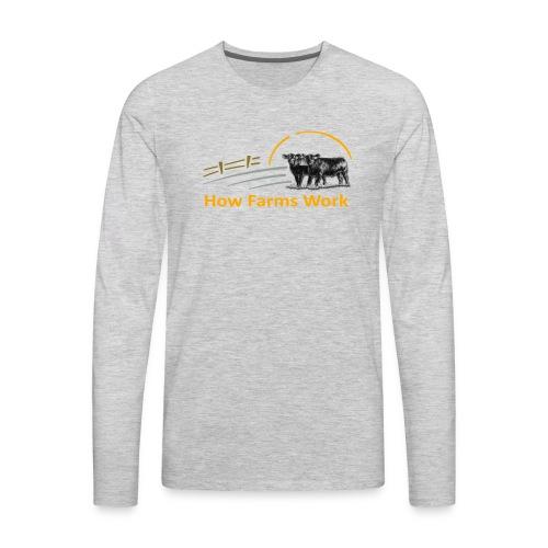 HFW Tee Flexprint (No YouTube logo) - Men's Premium Long Sleeve T-Shirt