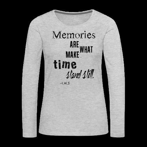 Women's Memories Tank Top - Women's Premium Long Sleeve T-Shirt