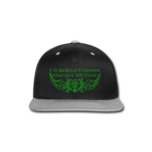 Sacrifice Everything Shirt - Snap-back Baseball Cap