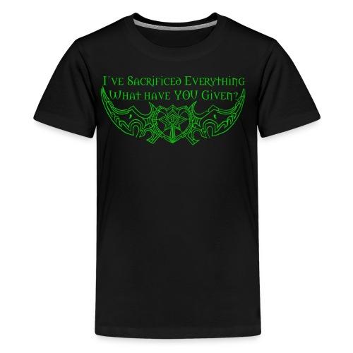 Sacrifice Everything Shirt - Kids' Premium T-Shirt