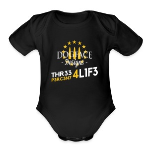 Three Percenter for Life - Short Sleeve Baby Bodysuit