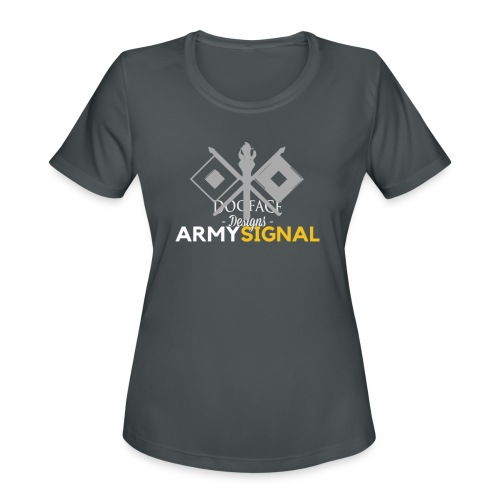 Army: Signal Corps Branch - Women's Moisture Wicking Performance T-Shirt