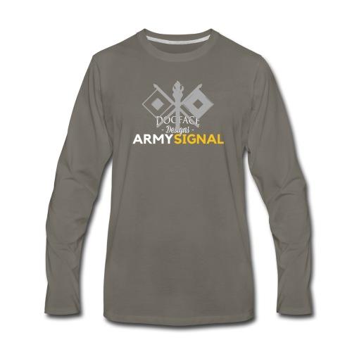 Army: Signal Corps Branch - Men's Premium Long Sleeve T-Shirt