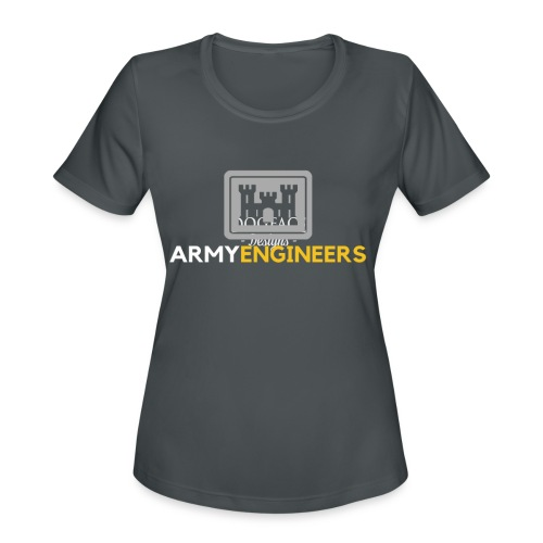 Army: Engineer Branch - Women's Moisture Wicking Performance T-Shirt